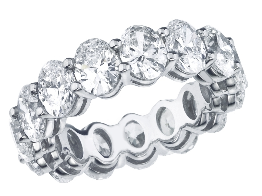Oval Diamond Eternity Band 4.95 Carat Total Weight