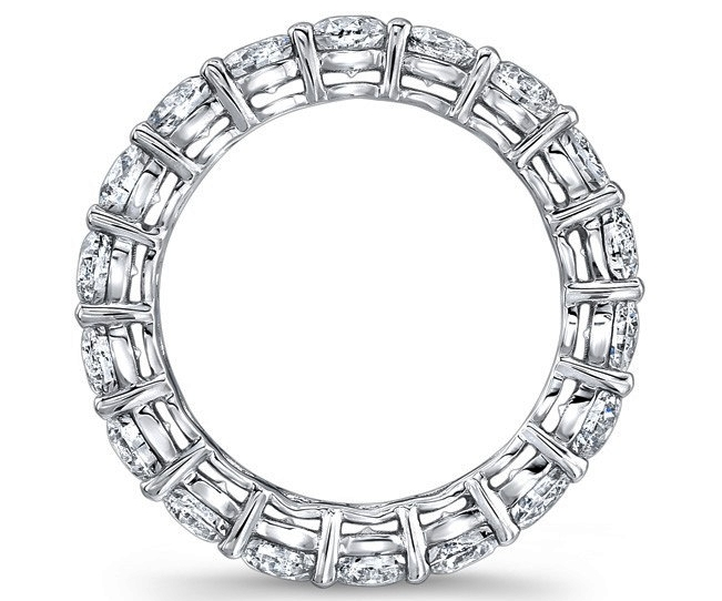 Round Diamond Eternity Wedding Ring 2.7 carat tw