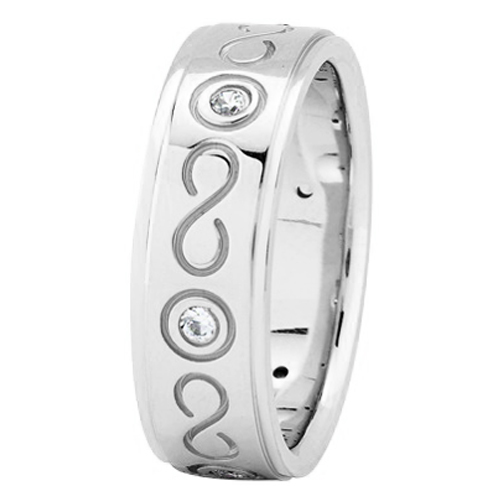 Diamond Infinity Wedding Ring in Platinum 0.18 tcw.