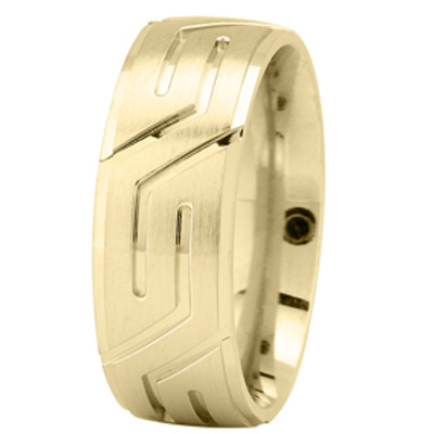 Yellow Gold Superman Wedding Ring