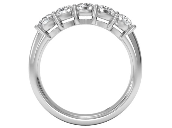 Five Stone Diamond Wedding Ring 1 carat TW