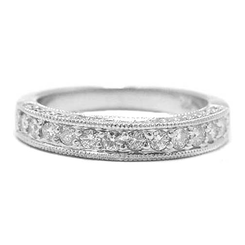 pave Wedding Bands from MDC Diamonds