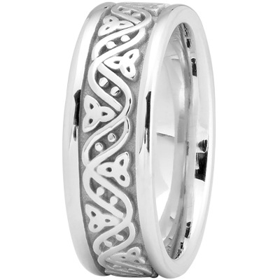 Celtic Wave Men's Wedding Ring in Platinum