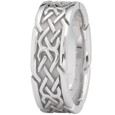 Tire Tread Men's Wedding Ring