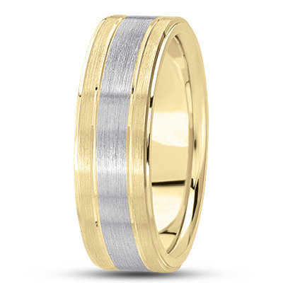 Flat Section Satin Two Tone Band