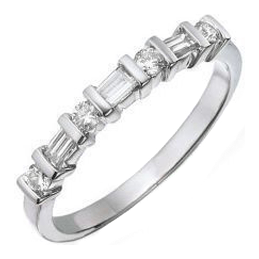 union white timeless matching wedding gold baguette w bands diamond band