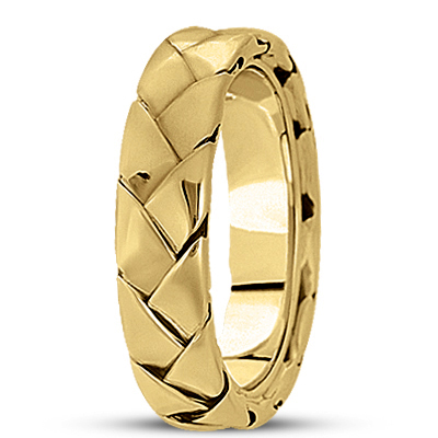 Woven Men's Yellow Wedding Band