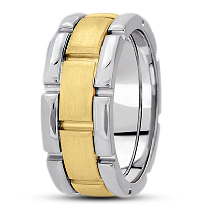 Watch Band Two Tone Wedding Ring