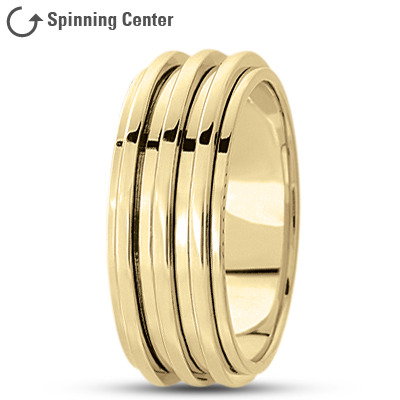 Yellow Gold Fidget Spinner Wedding Band