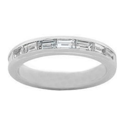 Baguette Diamond Wedding Band 0.50 tcw. In 14 Karat White Gold