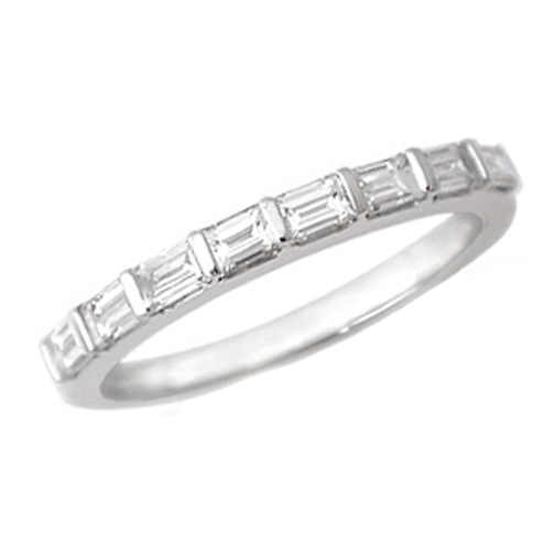 Wedding Band Baguette Diamond Wedding Band 050 tcw Bar Set In