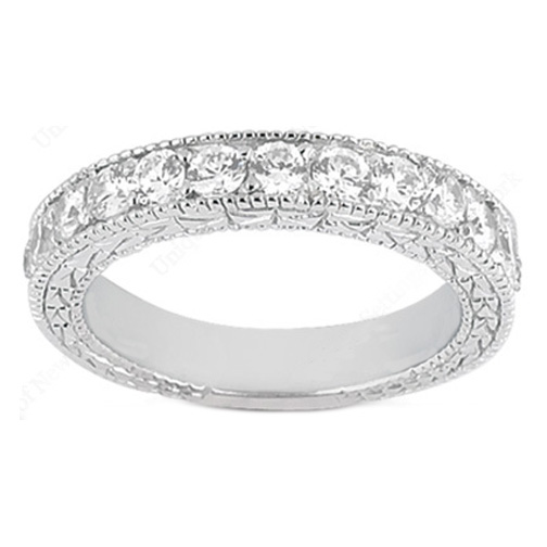 moon bands diamond band wedding white half eternity tilt gold in round style setting