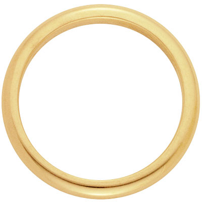 Comfort-Fit Wedding Ring in 14K Yellow Gold (3 mm)