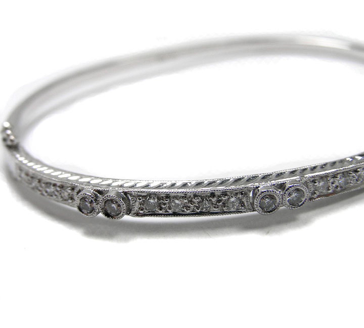 Diamond Bangle Bracelet 0.80 Carat