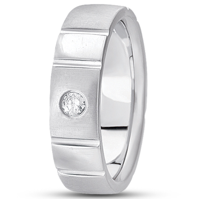 Solitaire Mens Diamond Band