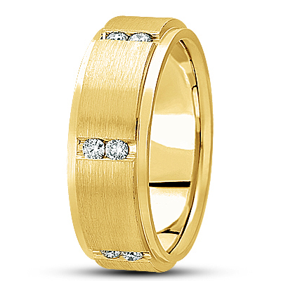 Duo Diamond Channel Yellow Eternity Band