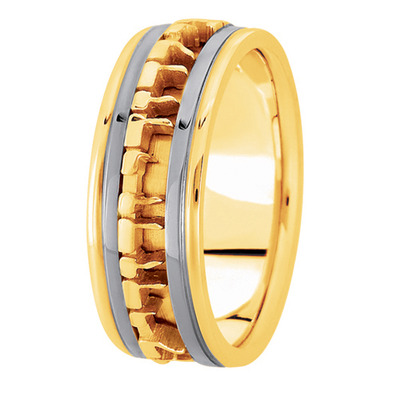 Ani L'Dodi Two Tone Wedding Ring
