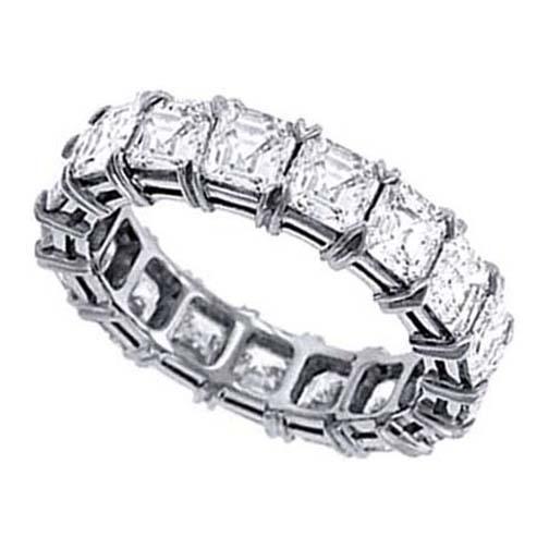 Wedding Band Asscher Cut Diamond Eternity Anniversary Wedding Band