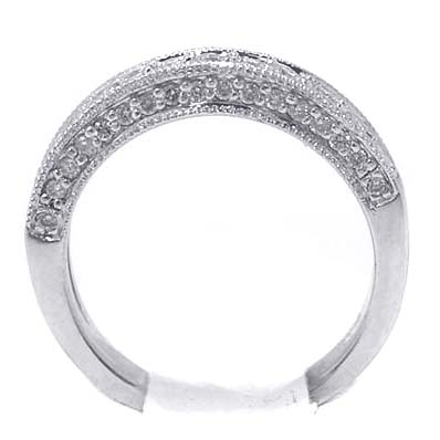 Round Diamond Antique Pave Wedding Band 0.50 tcw.